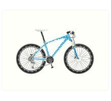 Typographical Anatomy of a Mountain Bike Art Print