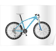 Typographical Anatomy of a Mountain Bike Poster