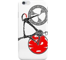 Typographic Anatomy of a Track Bike iPhone Case/Skin