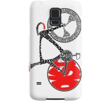 Typographic Anatomy of a Track Bike Samsung Galaxy Case/Skin