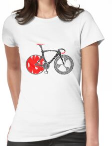 Typographic Anatomy of a Track Bike Womens Fitted T-Shirt