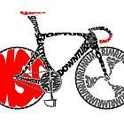 Typographic Anatomy of a Track Bike by jarodface