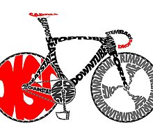 Typographic Anatomy of a Track Bike by jarodface