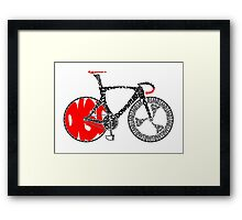 Typographic Anatomy of a Track Bike Framed Print