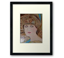 Princess Diana:  Sending her Love to Willy &  Kate on their Marriage: Sunilism Framed Print