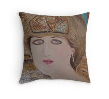 Princess Diana:  Sending her Love to Willy &  Kate on their Marriage: Sunilism Throw Pillow