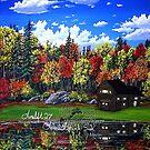 cabin in the mirror by LoreLeft27