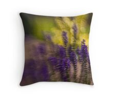 blurry flowers Throw Pillow