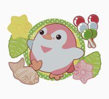 Pink Kawaii Penguin and Wagashi Kids Clothes