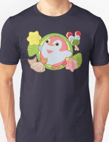 Pink Kawaii Penguin and Wagashi Unisex T-Shirt