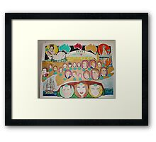 """ Advance Australia : Love and Peace Framed Print"