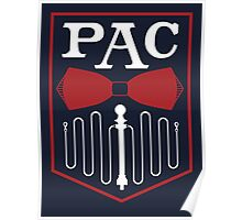 PAC Logo - Red and White Poster