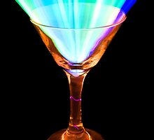 Glowing Martini Glass by Lisa Williams