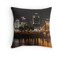 Cincinnati at Night Throw Pillow