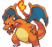 CHARIZARD PIXEL by forbiddngoods