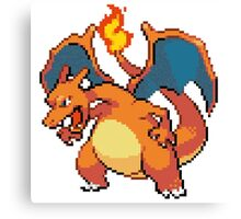 CHARIZARD PIXEL Canvas Print