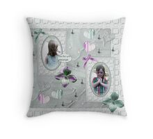 claire and abbie Throw Pillow