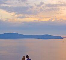 Santorini Couple by Yannis Larios