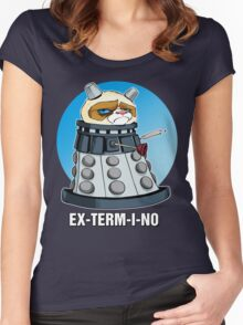 Grumpy Dalek Women's Fitted Scoop T-Shirt