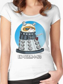 Grumpy Dalek Women's Fitted Scoop T-Shirt