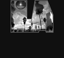"""""""L.A. is Burning"""" by Dusty Vinyl Design - Black and White version Unisex T-Shirt"""