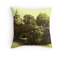 Port Sunlight Village Bridge Throw Pillow
