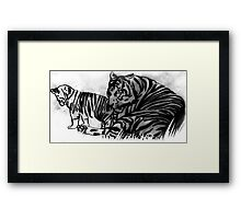 tigers Framed Print