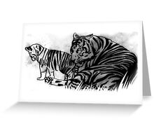 tigers Greeting Card