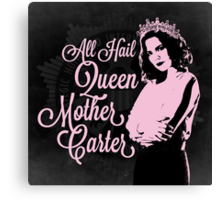 All Hail Queen Mother Carter (Pink) Canvas Print