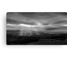 Sun Shining on the Righteous? Canvas Print