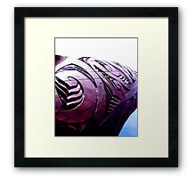 Carving the way Framed Print