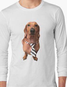 Dachshund Sausage Dog wearing tie Long Sleeve T-Shirt
