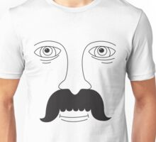 Moustache Man Unisex T-Shirt