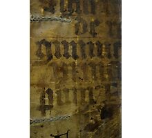 Medieval Book Cover Photographic Print