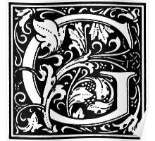 William Morris Renaissance Style Cloister Alphabet Letter G Poster