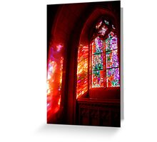 Window of Fire and Light Greeting Card