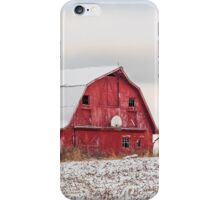 Snowy Barn iPhone Case/Skin