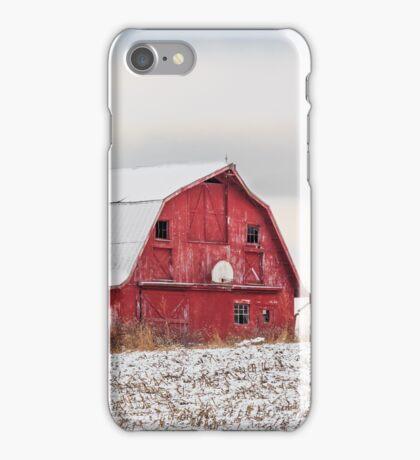 Snowy Barn iPhone Case/Skin