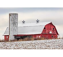 Snowy Barn Photographic Print