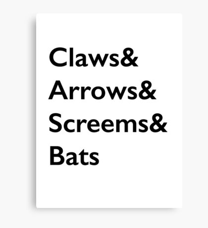 Teen Wolf Weapons Canvas Print