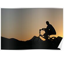 Cycler silhouette Poster