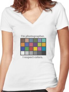 Colour charted t-shirt Women's Fitted V-Neck T-Shirt