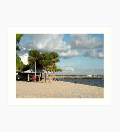 The Beach at Cape Coral Art Print