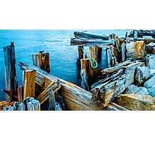 Old Wharf - Strahan Photographic Print
