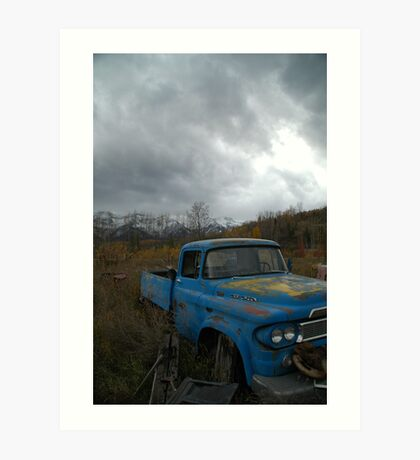 Desolate Rust Art Print