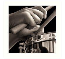 Sticks, Drummer Oil Painting Art Print