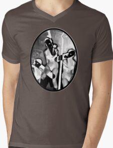 """The Taste of 3"" by Dusty Vinyl Design- Black and White version Mens V-Neck T-Shirt"