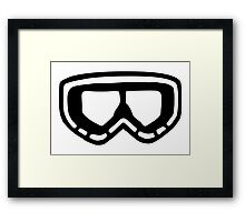 Snow Goggles Framed Print