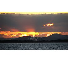 Sunset North Island Style Photographic Print