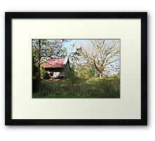 PIONEER HOUSE Framed Print